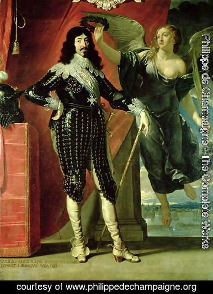 Philippe de Champaigne - Louis XIII (1601-43) Crowned by Victory, 1635