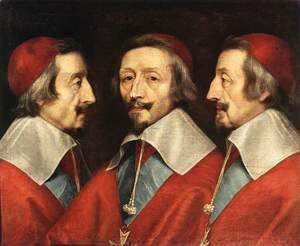 Philippe de Champaigne - Triple Portrait of the Head of Richelieu, 1642