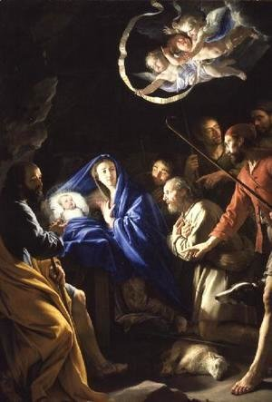 Philippe de Champaigne - The Adoration of the Shepherds, c.1648