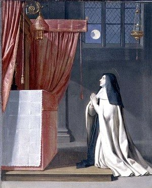 Philippe de Champaigne - The Vision of St. Juliana (1191-1258) of Mont Cornillon