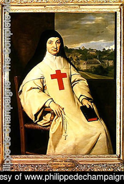 Mother Angelique Arnauld (1591-1661) Abbess of Port-Royal, 1654