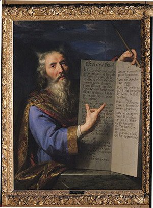 Philippe de Champaigne - Moses with the Tablets of the Law, 1663