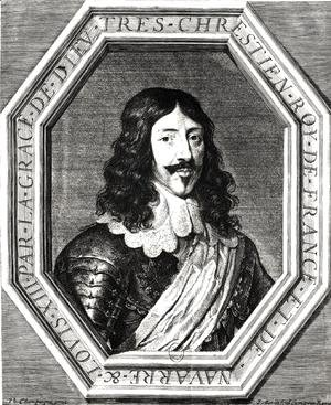 Philippe de Champaigne - Portrait of Louis XIII (1601-43) engraving by Jean Morin